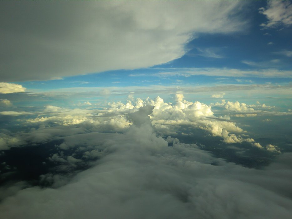 雲海の陰影