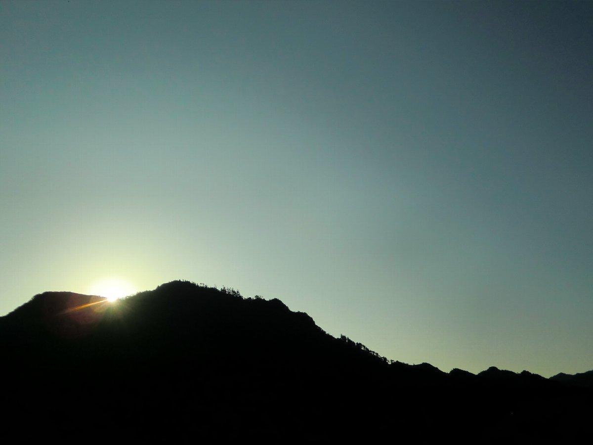 英彦山の朝日
