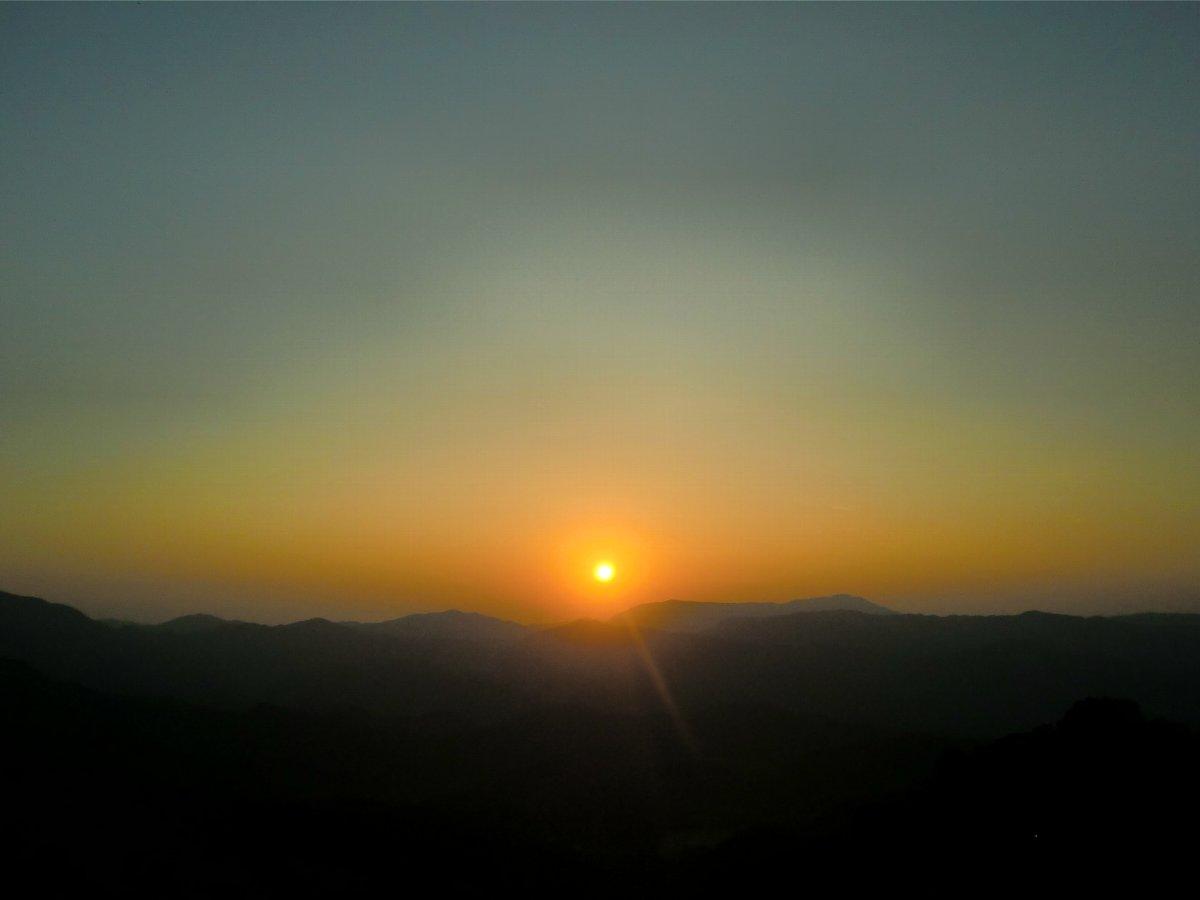 英彦山の夕日