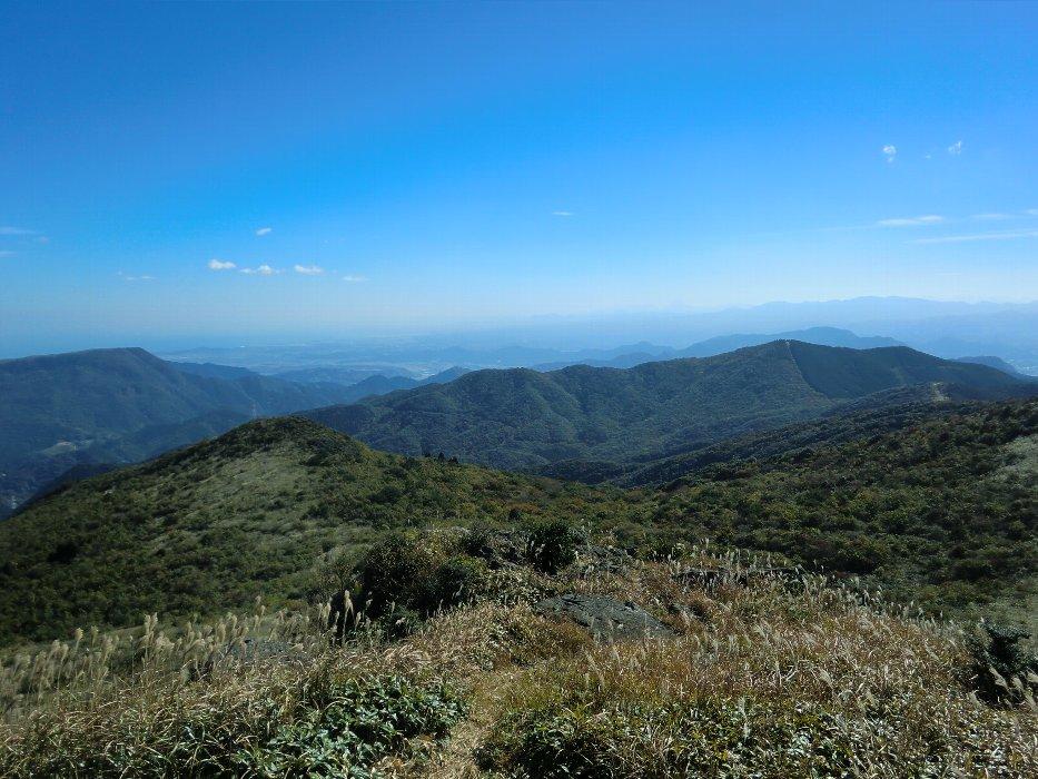 山頂付近の展望