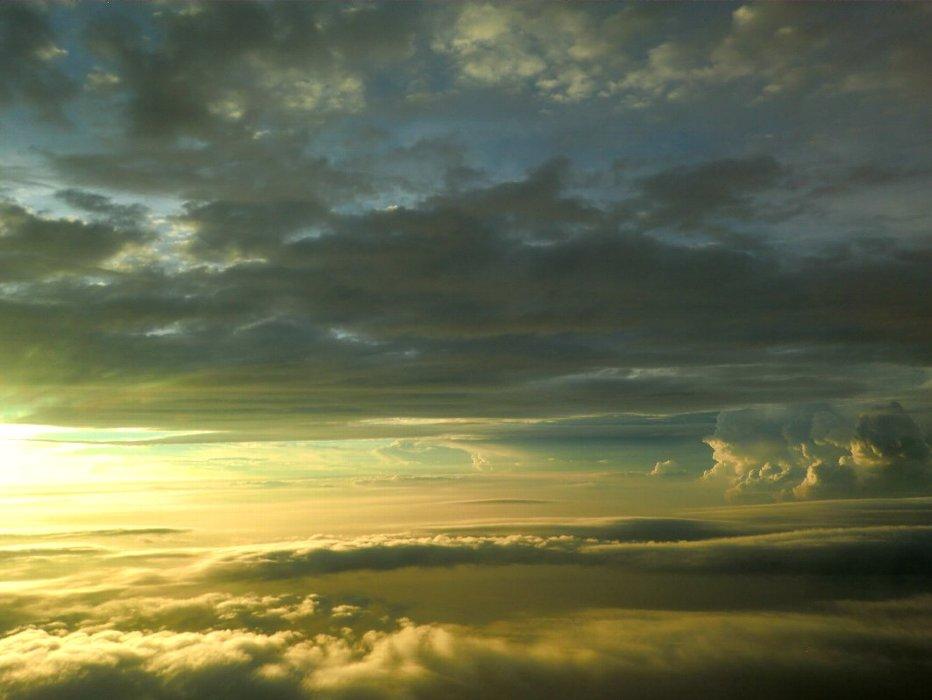 雲海の夕日1