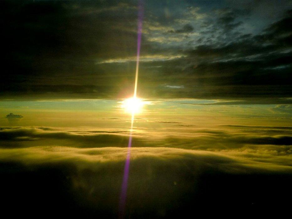 雲海の夕日3