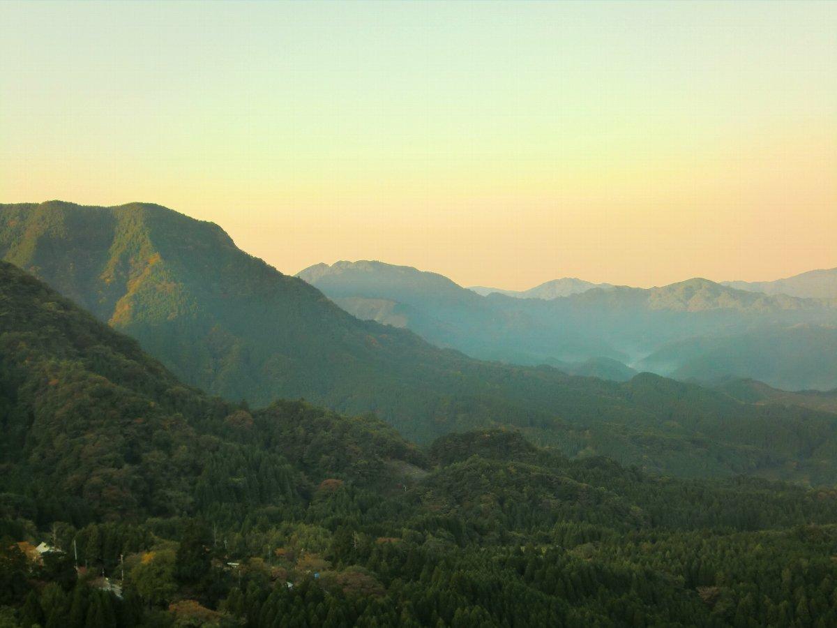 英彦山の朝焼け