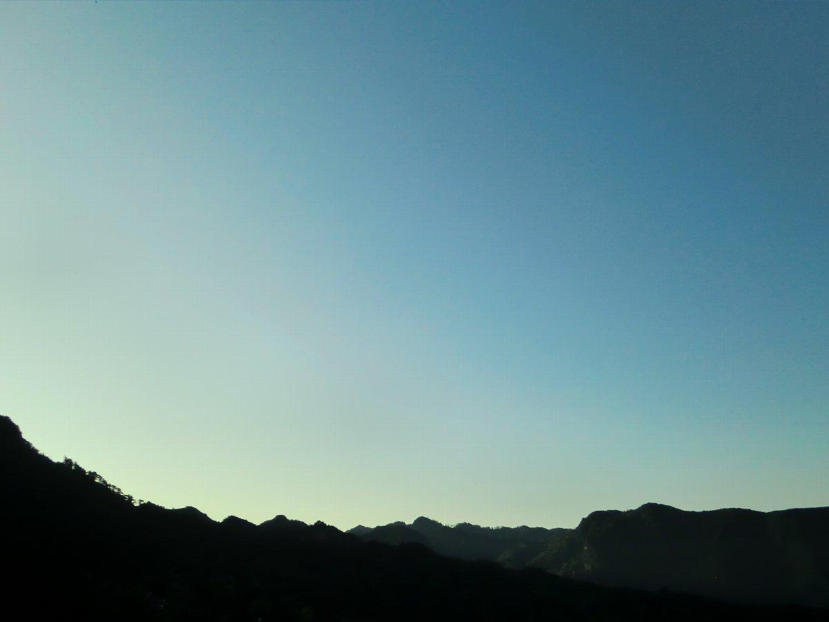 英彦山の朝焼け2
