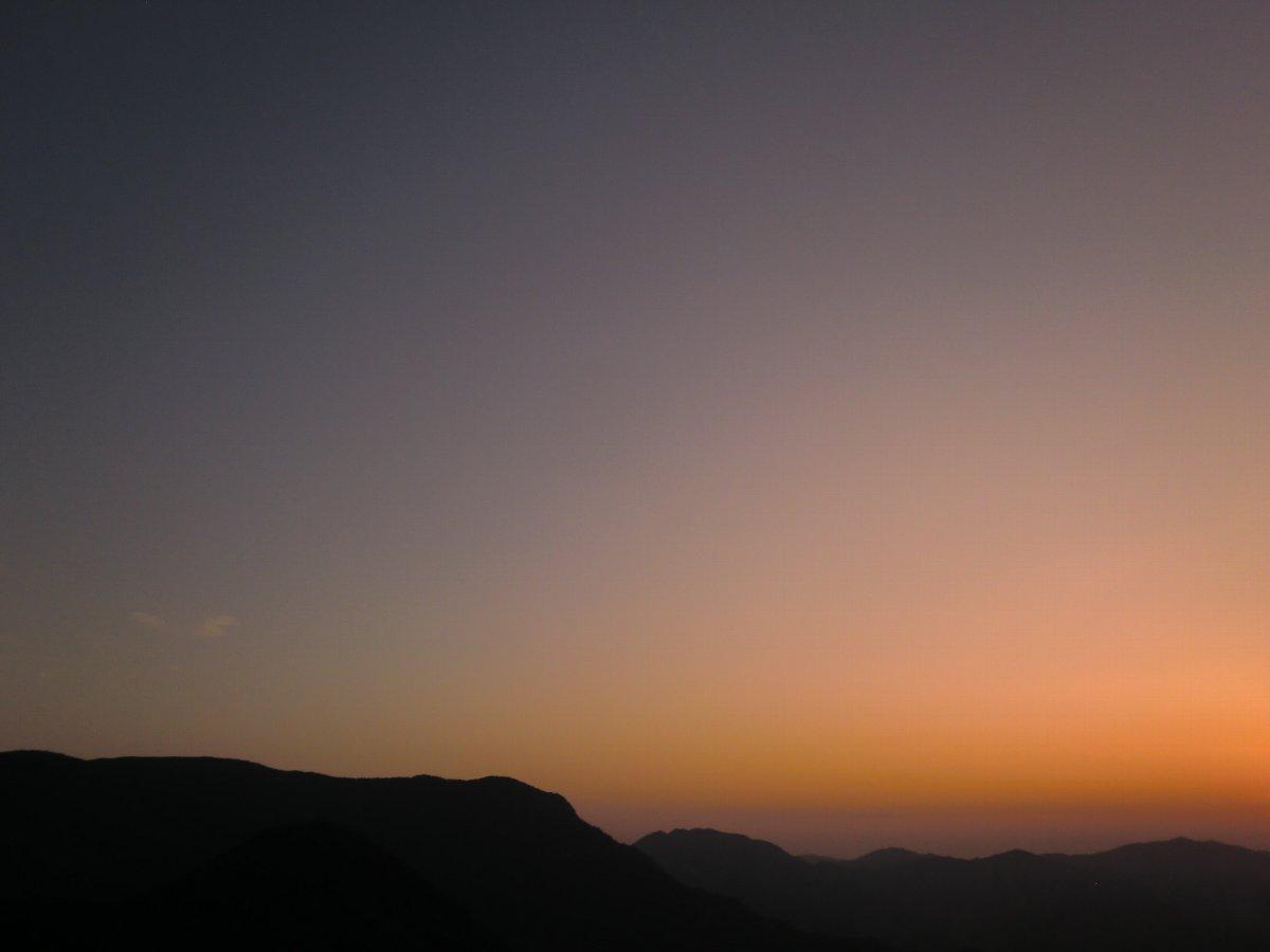 英彦山の夕焼け