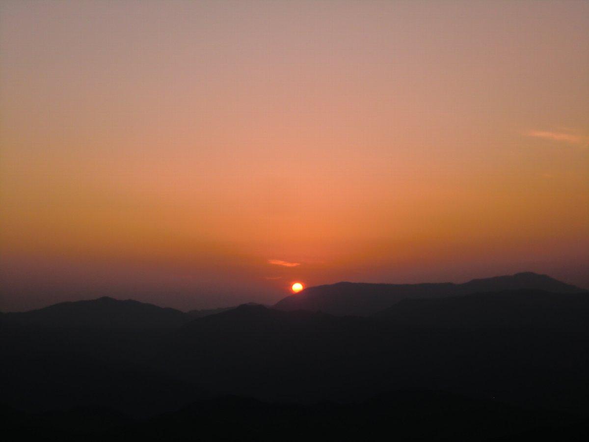 英彦山の夕日2